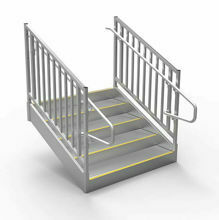 ADA Compliant Metal Steps