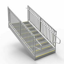 Metal Stairs for Offices, Trailers and Business Steps